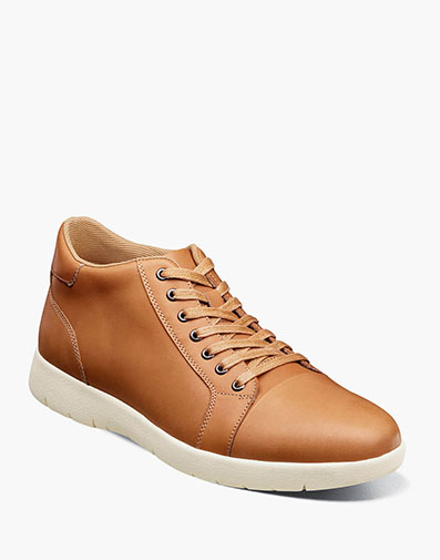 Harlow Cap Toe Mid Lace Up in Natural.