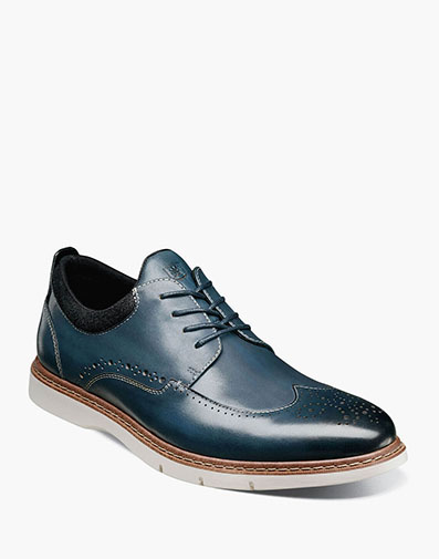 Synergy Wingtip Oxford in Blue.