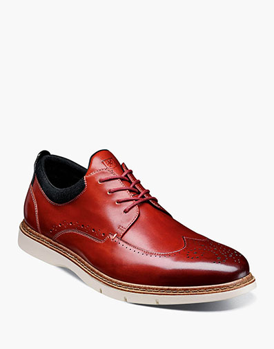 Synergy Wingtip Oxford in Cranberry.