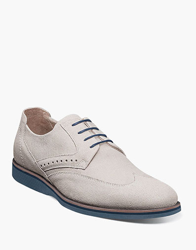 LUXLEY Wingtip Oxford in Chalk.