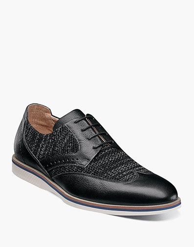 LOCKE Wingtip Oxford in Black.