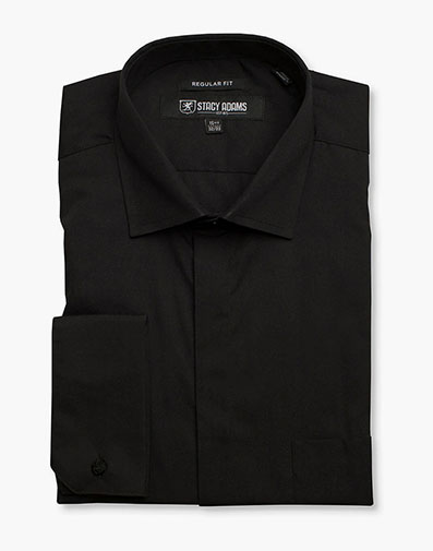 Carson Dress Shirt  in Black for $40.00