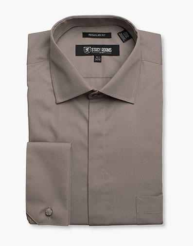 Carson Dress Shirt  in Steel for $40.00
