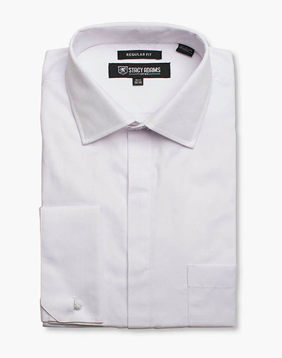 Carson Dress Shirt  in White for $40.00