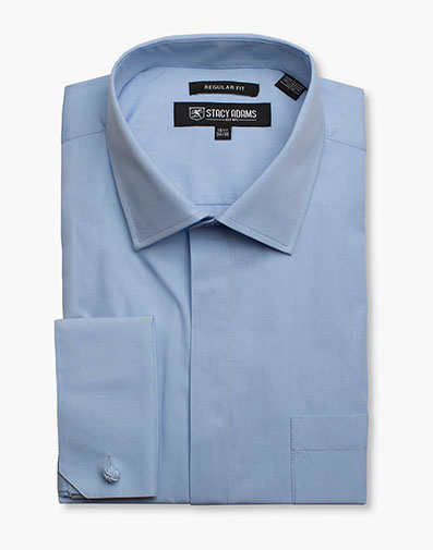 Carson Dress Shirt  in Blue for $40.00