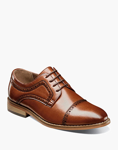 Boys Dickinson Cap Toe Oxford in Cognac for $55.00