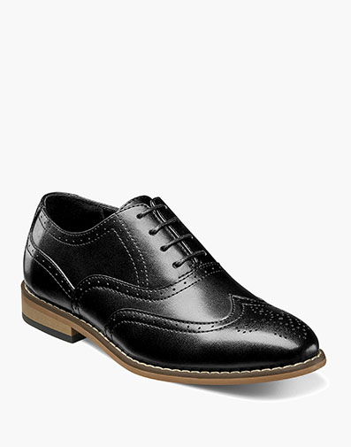 Boys Dunbar Wingtip Oxford in Black for $55.00
