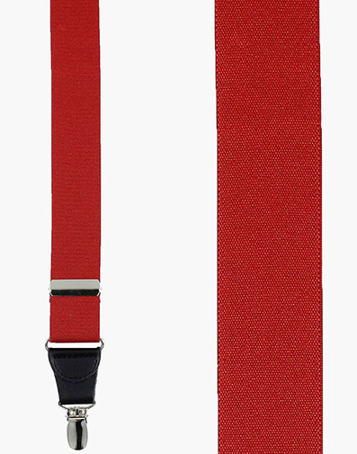 Clip Suspenders Classic Solid - Red in Red for $36.00
