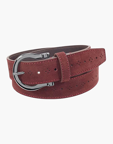 Richmond Suede Perf Belt in Ox Blood for $39.00