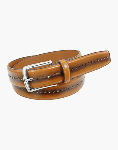 Carnegie Perf Leather Belt in Cognac for $39.00