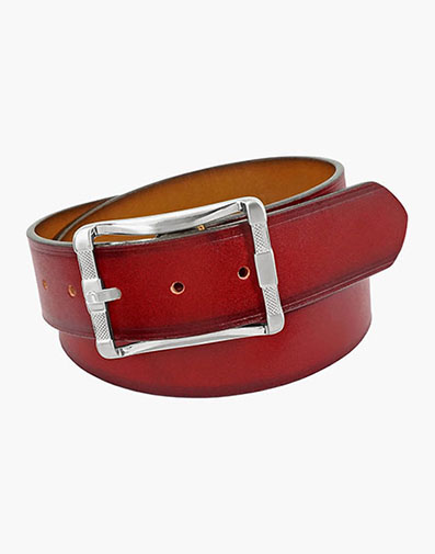 Fairmount Reversible Belt in Cranberry for $42.00
