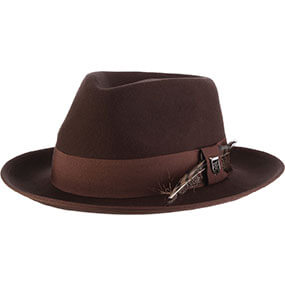 Naperville Fedora  in Chocolate for $70.00