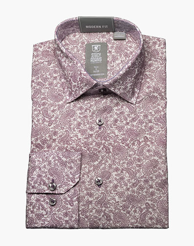 Tavares Dress Shirt  in Purple for $40.00