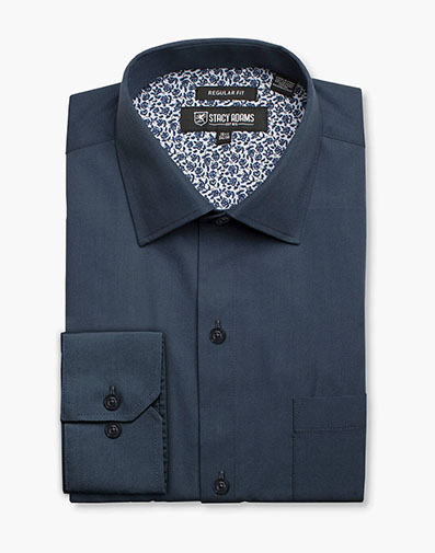 Aliota Dress Shirt Point Collar in Royal for $40.00