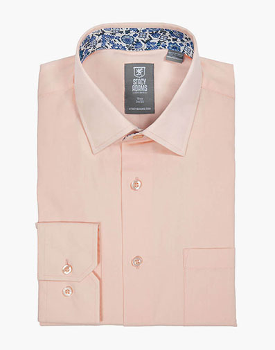 Aliota Dress Shirt Point Collar in Peach for $40.00