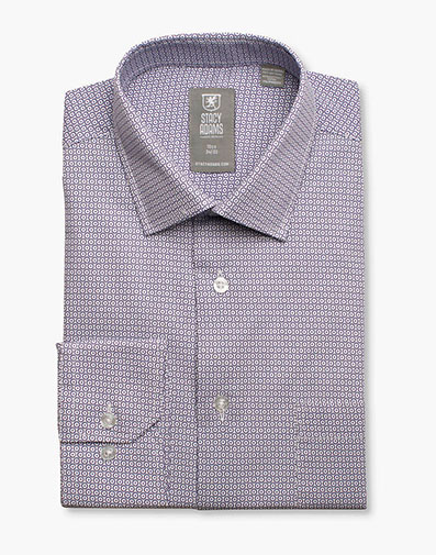Daytona Dress Shirt Point Collar in Purple for $40.00
